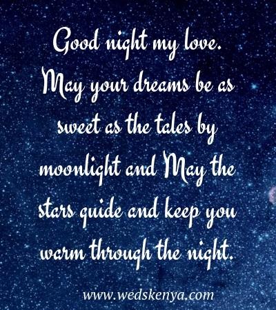 Most romantic good night sms